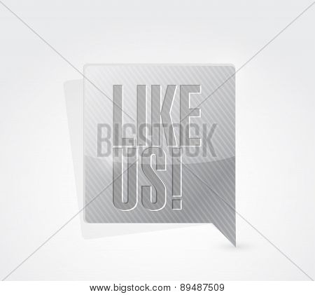 Like Us Message Sign Concept Illustration