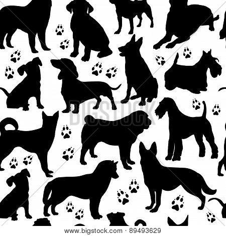 Dog Seamless Pattern.