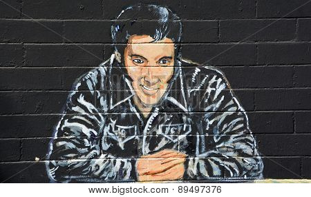 Elvis Presley Mural