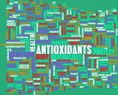 Antioxidants Concept or Anti Oxidants or Antioxidant poster
