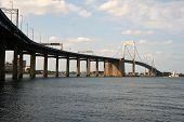 throgs neck bridge - new york - connecting queens to the bronx poster