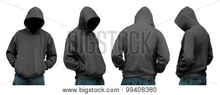 Set Of Man In Hoodie