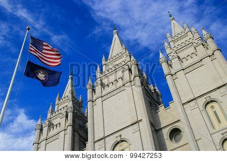 Temple Of The Church Of Jesus Christ Of Latter-day Saints In Salt Lake City, Utah