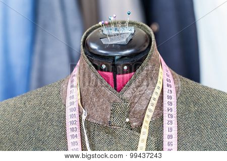 Tweed Jacket On Mannequin And Ready Suits