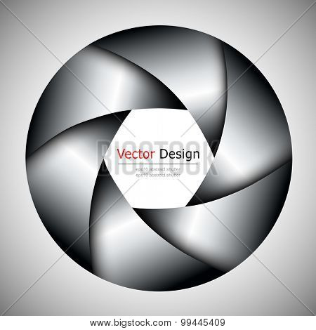 Background with camera lens shutter, vector illustration.