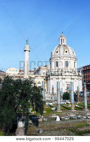 Chiesa del Santissimo Nome di Maria al Foro Traiano in Rome, Italy