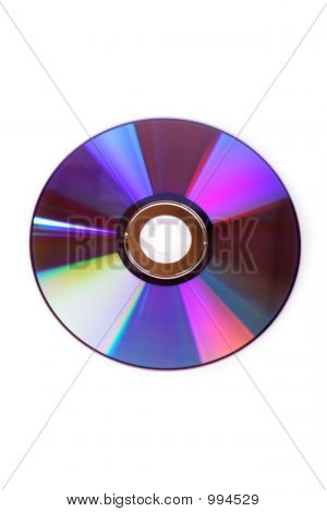 a dvd disc on white background for backup poster