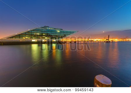 The Dockland building in Hamburg