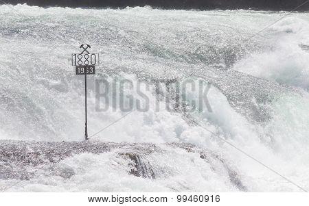 Rheinfalls, Switzerland - July 25, 2015: The Biggest Waterfalls Of Europe In Schaffhausen, Switzerla