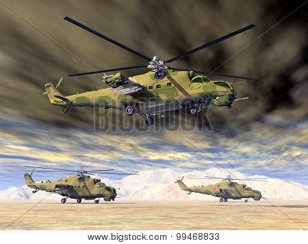 Soviet attack helicopters of the cold war