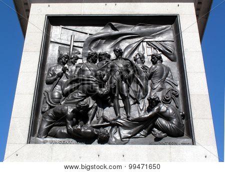 Battle of Cape St Vincent, Nelson's Column's