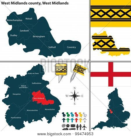West Midlands County, West Midlands, Uk