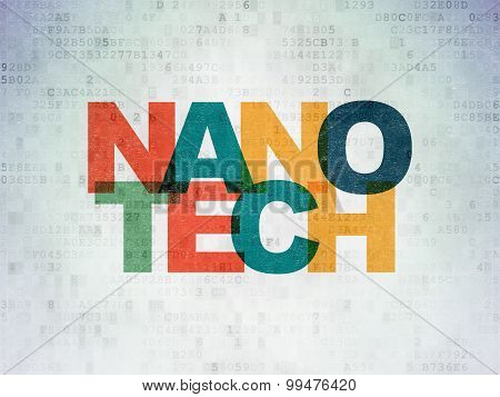 Science concept: Nanotech on Digital Paper background