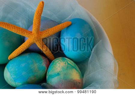 Maritime Easter Decoration With Starfish