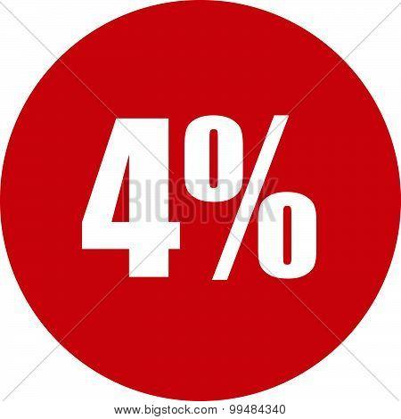 4 Percent Icon