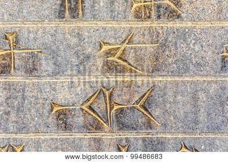 Cuneiform closeup Persepolis