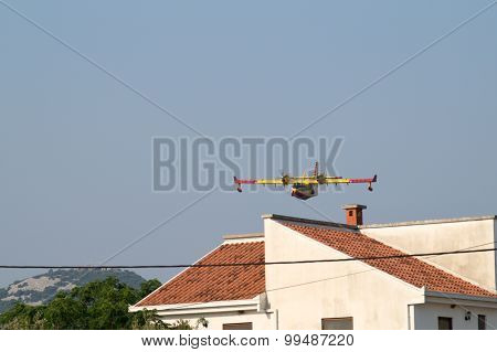 Canadair Cl-215 Firefighting Plane