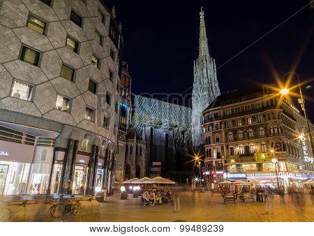 Stephansdom And Stephansplatz Vienna