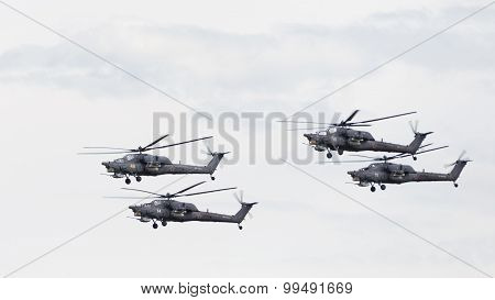 Four Powerful Military Helicopters Mi-28