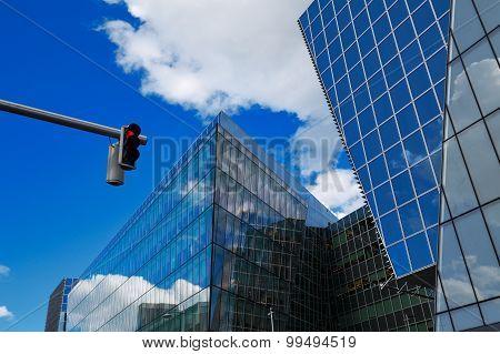 Modern architecture of Dublin Docklands area