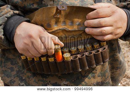 Hands And Hunting Bandoleer