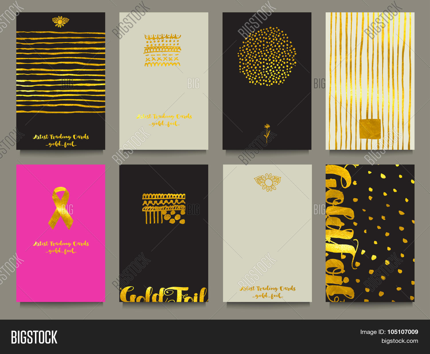 Gold Foil Business Cards Artist Vector & Photo | Bigstock