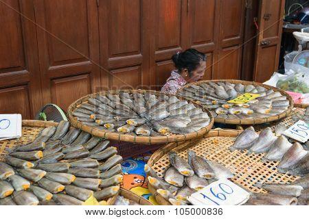 Salted Fish In Sam Chuk Market