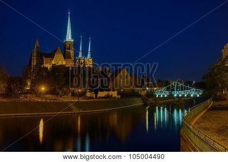 Cathedral Island In Wroclaw