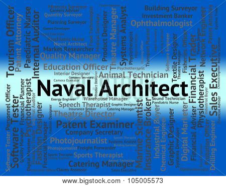 Naval Architect Indicates Building Consultant And Aquatic