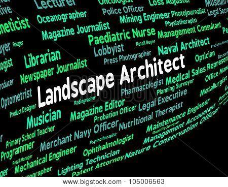 Landscape Architect Shows Scene Vista And Natural