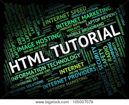 Html Tutorial Shows Hypertext Markup Language And Develop