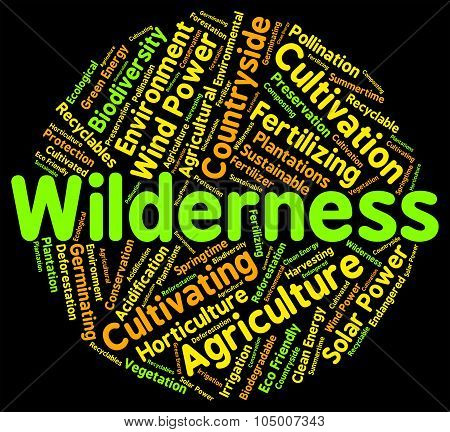 Wilderness Word Shows Land Words And Wastelands