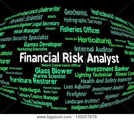 Financial Risk Analyst Shows Risks Unsafe And Analytics