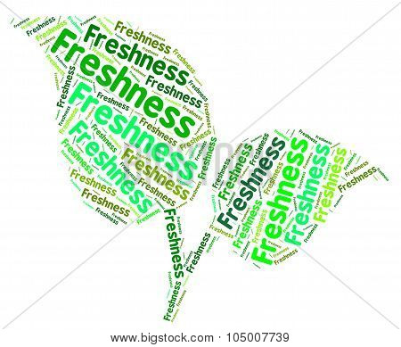 Freshness Word Represents Words Raw And Text