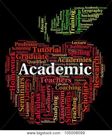 Academic Word Representing Military Academy And Academies poster
