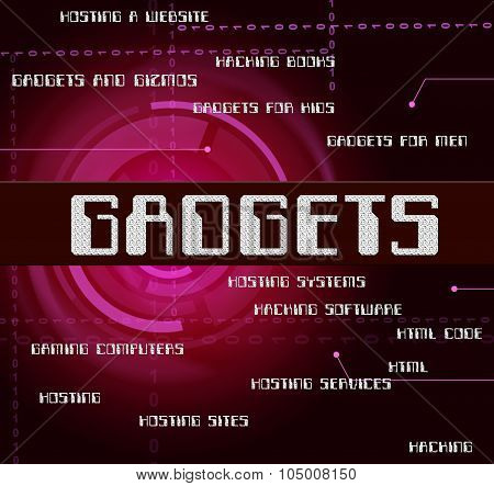 Gadgets Word Indicates Mod Con And Appliance