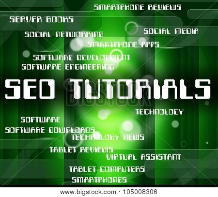 Seo Tutorials Showing Optimized Search And Study poster