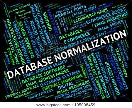 Database Normalization Represents Normalise Words And Regularise