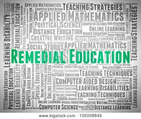 Remedial Education Means Text Remedying And Train