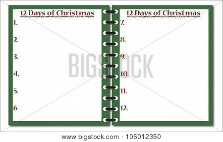12 Days Of Christmas Notepad