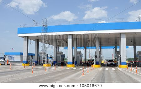 TULA RUSSIA - 20.05.2015. Payment points on the highway M4 Don