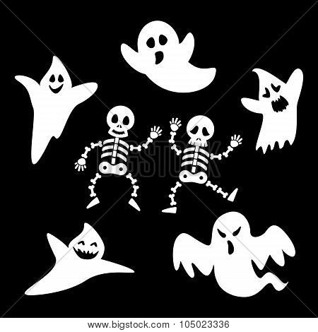 Ghosts And Skeletons