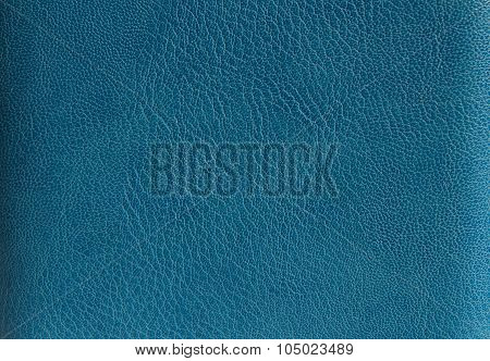 Texture artificial blue leather