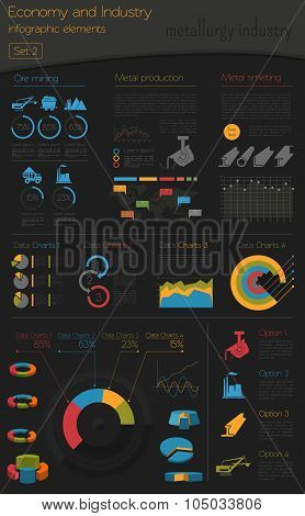 Economy and industry. Engineering and metalworking. Industrial infographic template