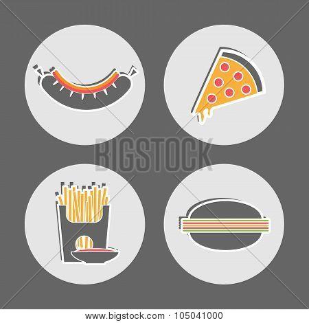 Fast Food Restaurant Cafe Menu