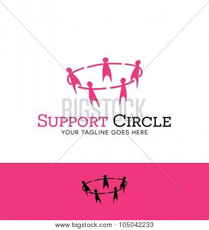 logo design for counseling, group therapy, or nonprofit organization. Circle of people.
