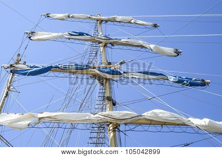 Main Mast With Sails Collected