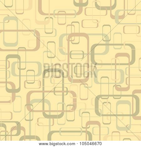 Vector Vintage Beige And Yellow Geometric Pop Design Wallpaper Background