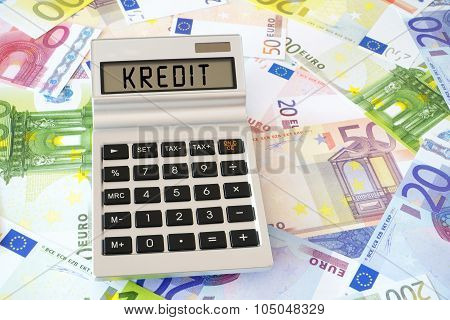The Word Credit On Calculator Display