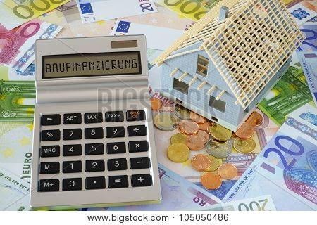 The Word Mortgage Lending On Calculator Display